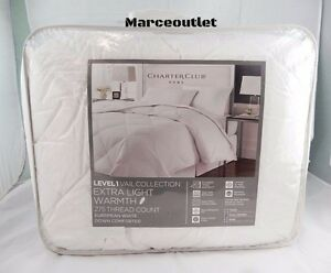 Charter Club Vail Extra Light Warmth European Goose Down FULL / QUEEN Comforter