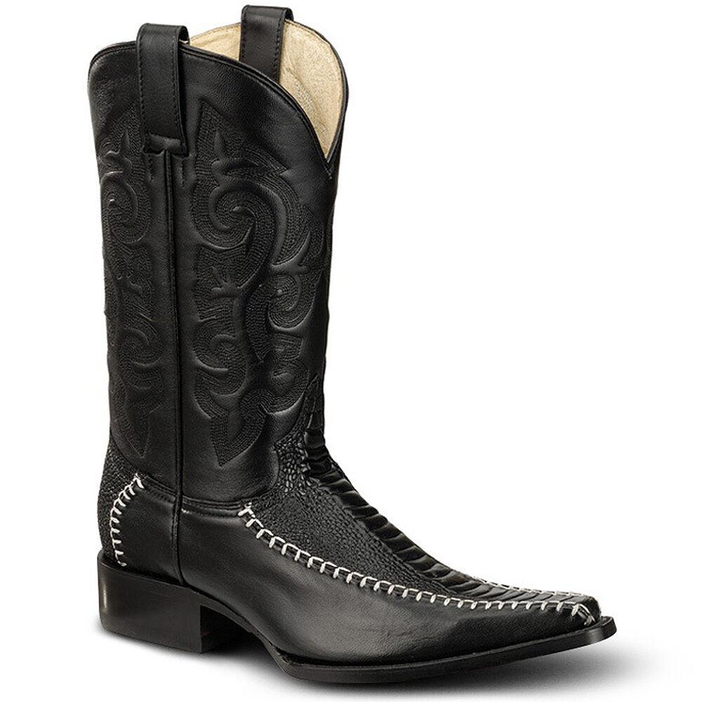 Bonanza Bonanza Bonanza Boots 51707 Ostrich Leg Print Western Cowboy Boots Medium Various Colors 1cc710