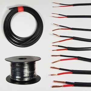 Strict Automotive 12 V 24 V 2 Core Twin Thinwall Rouge/noir Auto Câble Wire Wiring Loom-afficher Le Titre D'origine Apparence EsthéTique