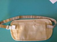 Travel Pouch,  Hidden Money Waist Belt,  Light & Durable, 2 Pockets, Ships Free