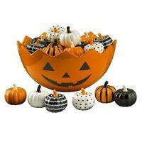 468413 Mini Pumpkin Patch S/6 Salt Pepper Shakers Halloween Thanksgiving Fall