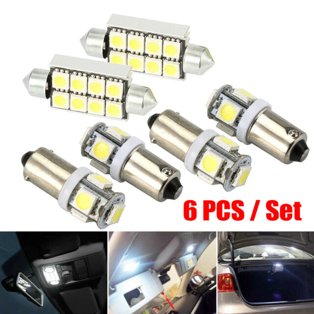 2x Audi A8 D2 Bright Xenon White Superlux LED Number Plate Upgrade Light Bulbs