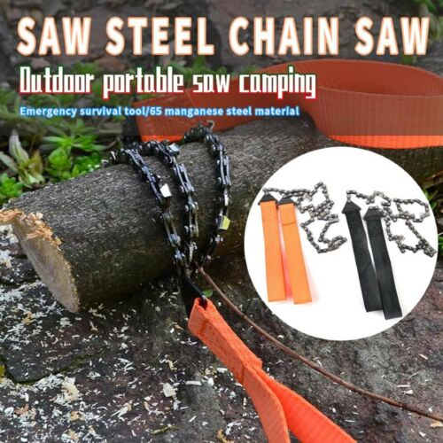 Camping Hiking Emergency Chain Saw Survival ChainSaw Hand Gear Pocket Portable