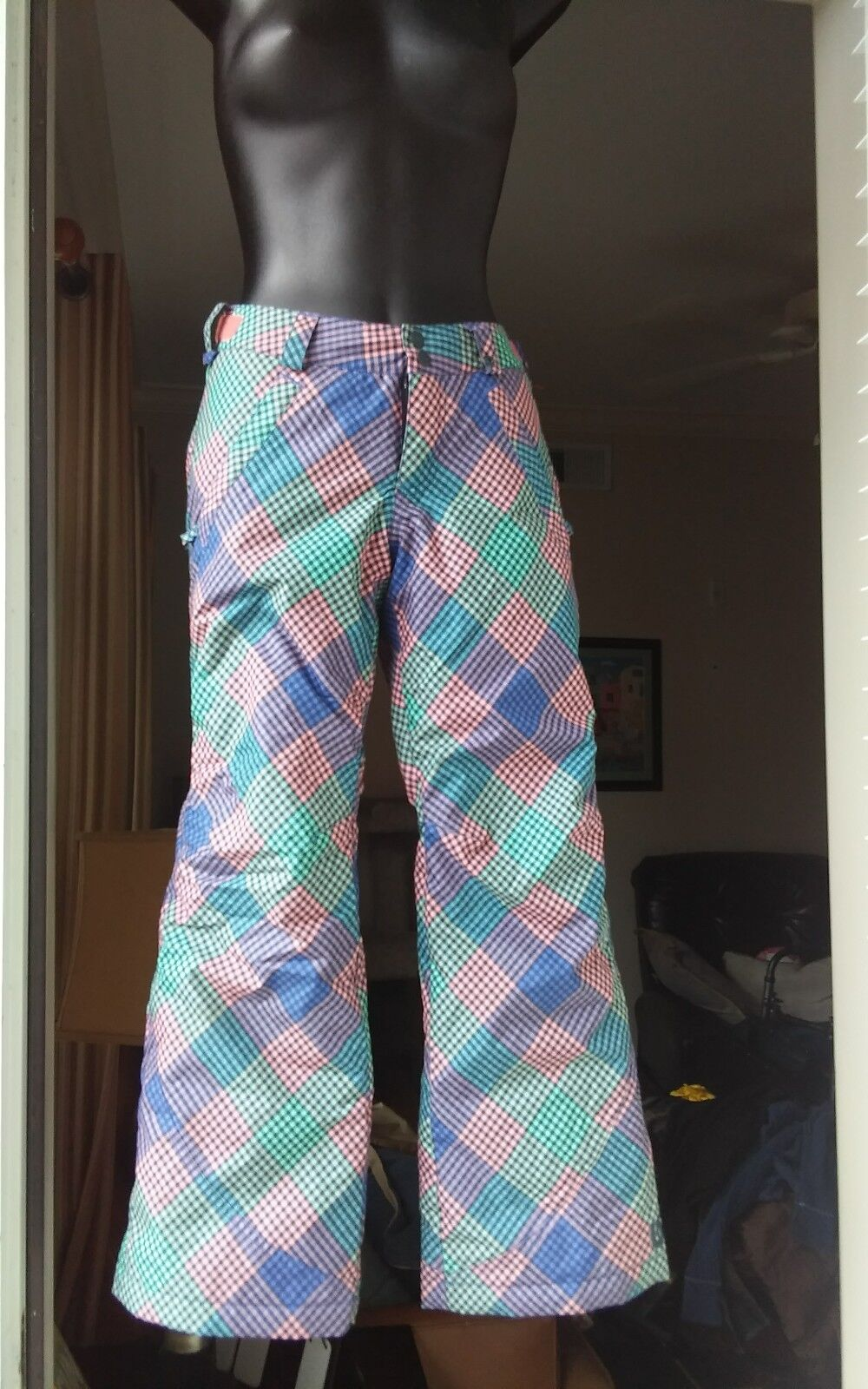 Burton Room To Grow Dry Ride Ski Pink Purple Multicolor Pants M