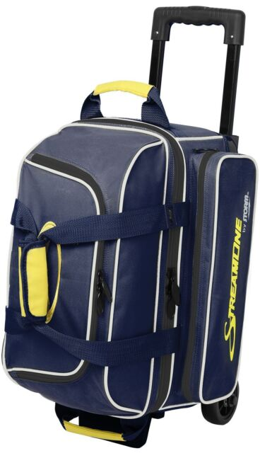 Storm 2 Ball Streamline Roller Bowling Bag With Wheels Color Navy Grey New