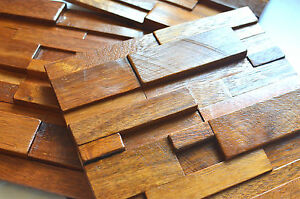 Details About Wall Tiles, Decorative Wall Panels, Wall Covering, Wood  Mosaic Tiles, Panelling