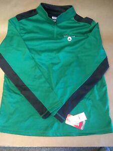 NBA Boston Celtics Men's 1/4 Zip Poly Fleece Sweatshirt Size XL NWT