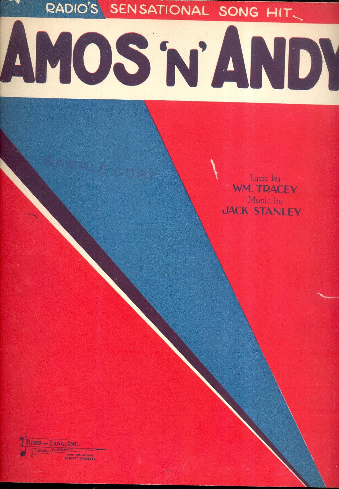 Amos 'n' Andy Notenblatt   Amos 'n' Andy   Funkgerät