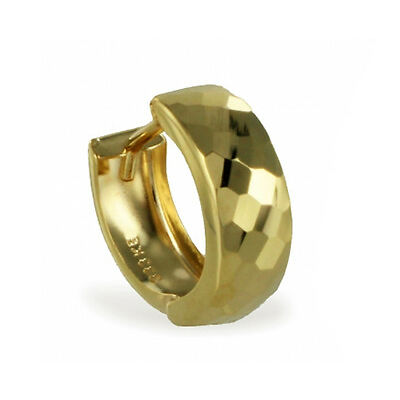 ECHT GOLD *** Herren Single-Creole Ohrring diamantiert 13 mm