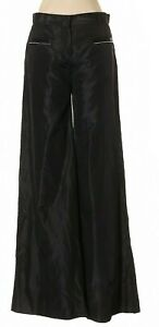 NWT-Authentic-CHANEL-Black-Wide-Leg-100-Silk-05A-Pants-Size-38-MSRP-1720