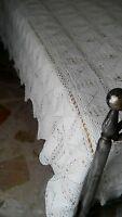 Coperta copriletto matrimoniale cotone bianco realizzato a mano ad uncinetto