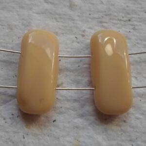 Czech Glass Beads  20 x 22mm Butterscotch Double Holed Beads - Birmingham, United Kingdom - Czech Glass Beads  20 x 22mm Butterscotch Double Holed Beads - Birmingham, United Kingdom