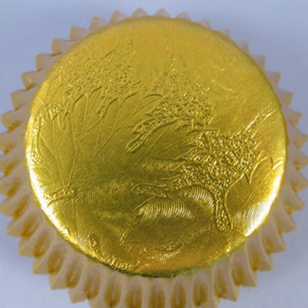 Metallic or muffin cas en or Metallic avec relief design d5f2c3