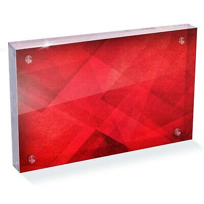 "Red Marble Texture Canvas Photo Block 6 X 4""-desk Art Office Gift #15857 Klanten Eerst"