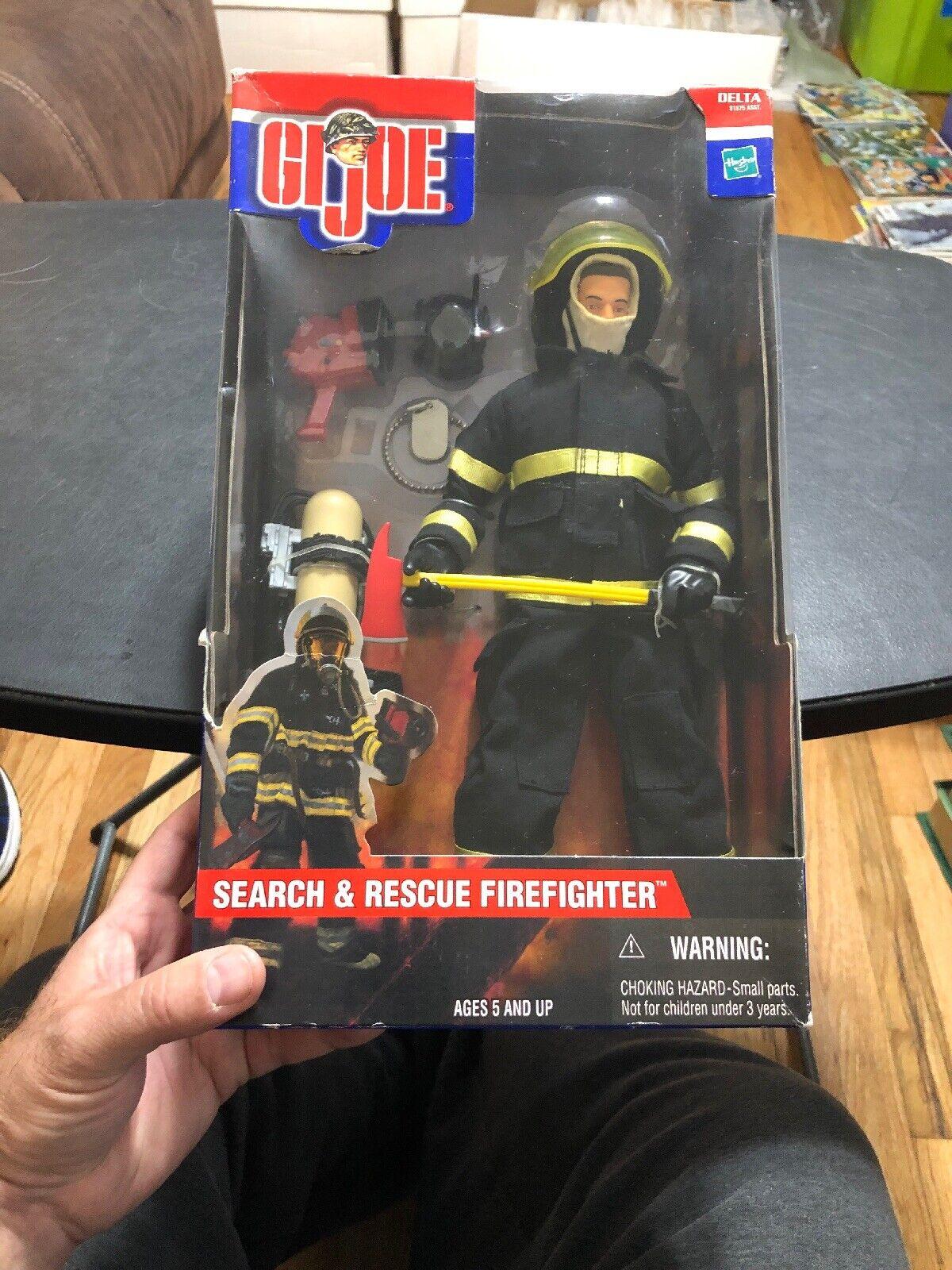 GI JOE Sesrch & Rescue FIREFIGHTER 2001 Figure In Box Rare