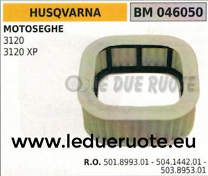 501899301 504144201 503895301 Filtro de Aire Motosierra Husqvarna 3120 3120XP