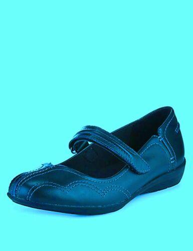 eur42 5 5 Shoes s Misura M Flat Leather Colore Footglove Uk8 Dolly Court blu scuro 4Pzqpv
