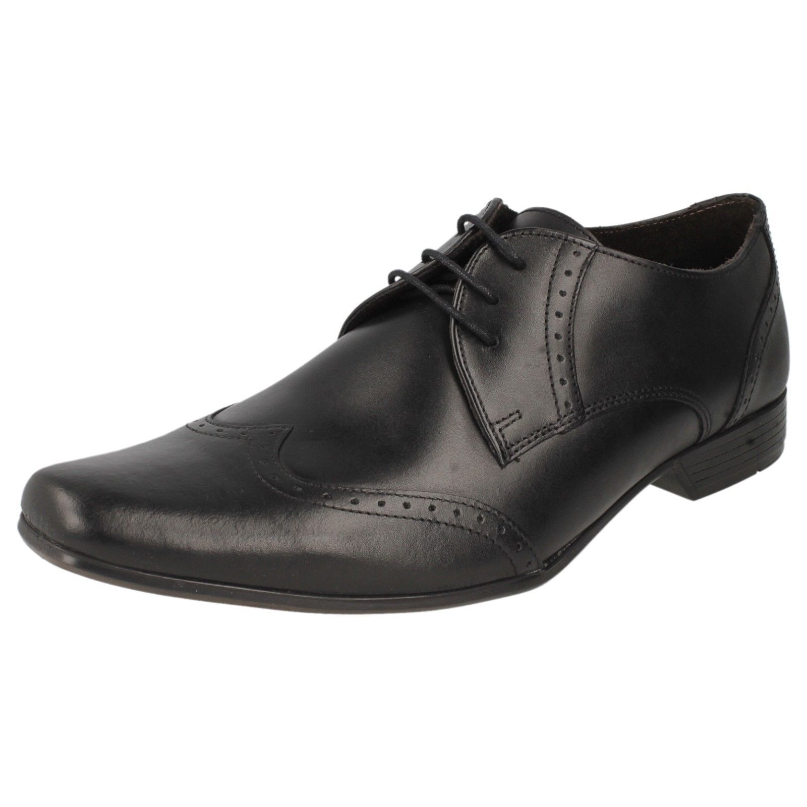 MENS BASE LONDON BLACK STYLE LEATHER BROGUE STYLE SHOES STYLE BLACK BUGSY MTO a2cee3
