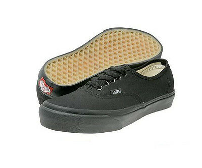 NEW VANS AUTHENTIC BLACK BLACK VN-0EE3BKA CANVAS CORE CLASSIC MEN