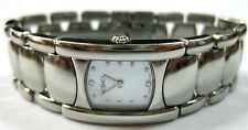 "EBEL ""Beluga"" Damenuhr - Quarz/Stahl Ref. 9057A21 12 Brillanten auf Perlmutt Uhr"