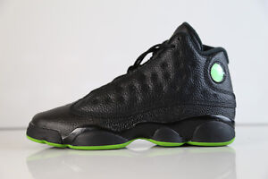 bc0194ab446 Nike Air Jordan Retro 13 Black Altitude Green BG GS 414574-042 5-7 ...