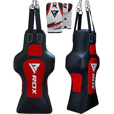 RDX Torso Dummy Heavy Punch Bag Grappling Body Slam Man Pads Boxing Gloves MMA