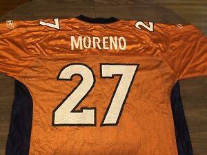 Details about Knowshon Moreno Denver Broncos NFL Football Reebok Large Orange Jersey