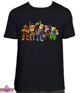 Roblox  Adults/KIDS BLACK T-Shirt Tee Top Gaming Gamer