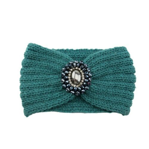 Details about  /Headband Knot Ladies Crochet Turban Winter Hair Band Ear Warmer Jewel Knitted
