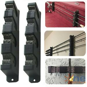 Horizontal Boat Fishing 6 Rod Rack Wall Mount Vertical Holder Storage Pole Stand