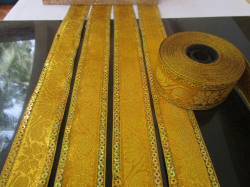Borte Spitze Nichtelastisch Gold 3,5cm elegante top mode