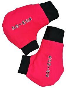 Ruderhandschuhe-hellrot-schwarz-mit-Aufdruck-Rudern-Rowing-Poggies