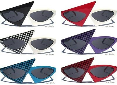 NEW WAVE Retro Totally 80s Sunglasses Punk Rock Party Costume Radical Sunnies