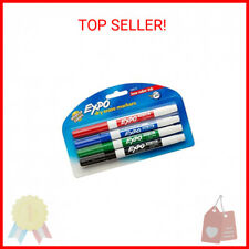New Listingexpo 86674k Low Odor Dry Erase Markers Fine Point Assorted Colors 4 Count