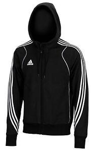 Adidas-Kinder-Hoody-schwarz-Jugendliche-Gr-128-140-Kapuzenpulli-zip-Jacke
