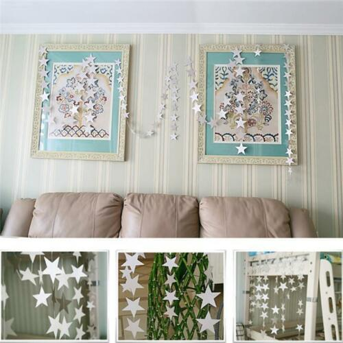 Hanging Paper Garland Star Shape String Hanging Banners Wedding Party Decor LL