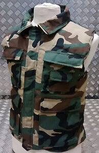 Hunters-Action-Vest-Woodland-Camo-Tactical-Spec-Body-Warmer-All-Sizes-NEW