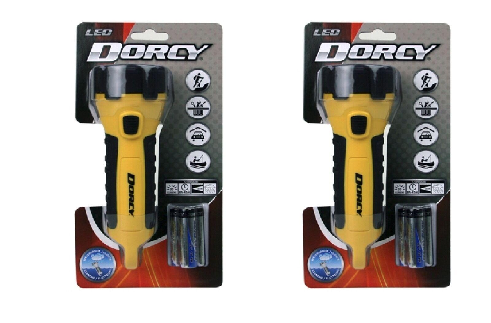 [2 Pack] Dorcy 412510  Waterproof, LED Flashlight, 55 Luuomini, gituttio.
