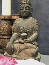 LARGE ANTIQUE / VINTAGE INDIAN HAND-CARVED, SACRED BUDDHA. KATHMANDU, NEPAL.