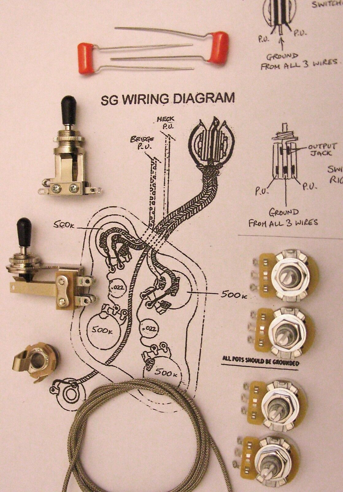 Upgrade Wiring Kit for SG - Switchcraft, CTS,  O drop etc.