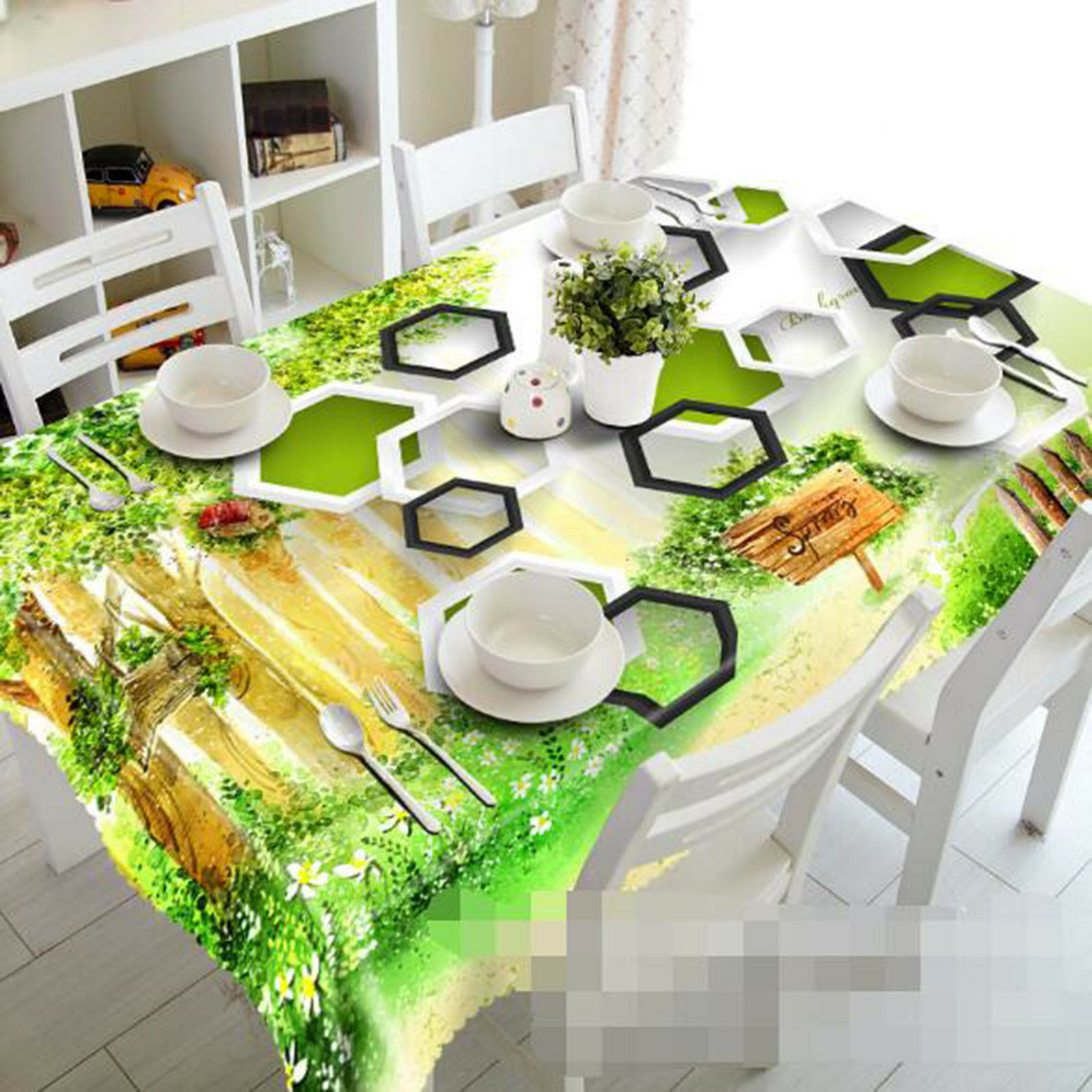 3D vert Leaf 037 Tablecloth Table Cover Cloth Birthday Party Event AJ Lemon