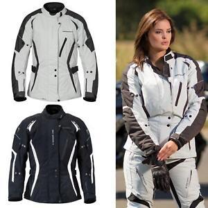 Germot-Melina-Damen-Textiljacke-Reflektierend-Taschen-Motorrad-Hochwertig-Bike