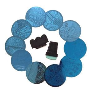 10-Pcs-Nail-Art-Vernis-Tampon-Stamping-Plaques-Pochoir-Metal-Image-Stamp-Scraper