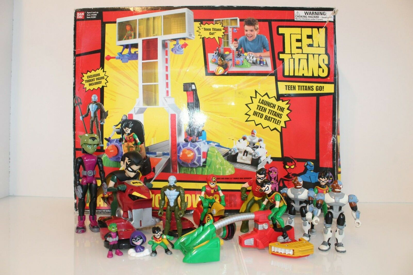 FIGURINES FIGURES BOXED DC TEEN TITANS LOT VINTAGE BANDAI NO POPY MARVEL MATTEL