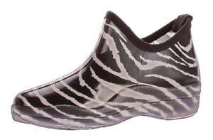 Donna-GOMMA-Stivaletti-Caviglia-Scarpe-Autunno-Pioggia-Boots-Stivali-di