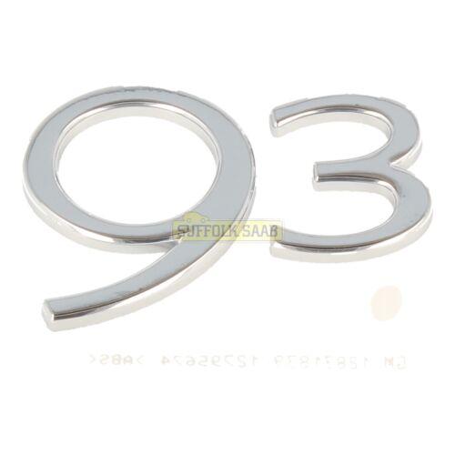 """Saab 93 9-3 9440 06-10MY sportwagon /""""arrière 93/' boot lid badge emblème 12795674 nouveau"""