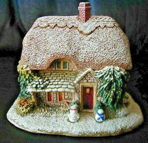 """Lilliput Lane """"WINTER'S WONDER"""" Cottage English Garden ca 1994 Deed~~ MIB"""
