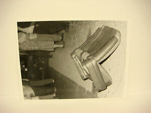 Details about Vintage Car Wreck Photo NH Accident Scene 1958 Chevy Seat  Upside Down SPP036