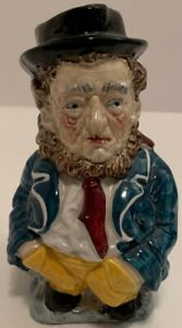 Vintage-Burleigh-Ware-5-DANIEL-PEGOTTY-Ironstone-Staffordshire-Toby-Mug-Jug