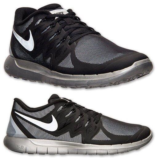 Nike Free 5.0 Running Flash da Uomo Running 5.0 Mesh M NERO - Argento - Grigio Lupo Nuovo 8b33fc